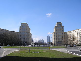 2016 Berlin ePrix - Strausberger Platz, where part of the race was held.