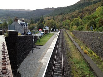 Stromeferry railway station - The station, looking approximately east.