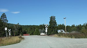 Stryker, Montana - Image: Stryker Montana Railroad Crossing