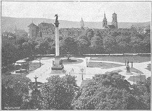 Schlossplatz (Stuttgart) - Image: Stuttgart, Schlossplatz, 1915