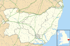 Ubbeston is located in Suffolk