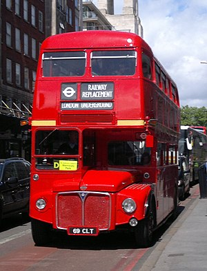 Sullivan Buses - AEC Routemaster on a London Underground replacement service at Baker Street station in May 2011
