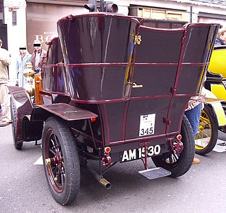 Tonneau - 1903 Sunbeam rear-entrance tonneau