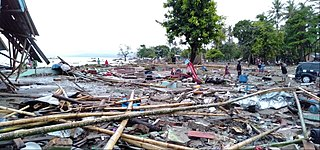 2018 Sunda Strait tsunami tsunami in coastal regions of Banten and Lampung, Indonesia