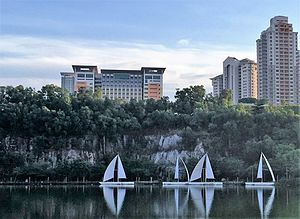 Sunway University - Photo of Sunway University from South Quay Lake