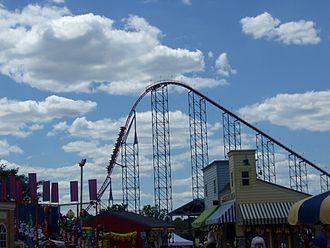 Superman – Ride of Steel - Image: Superman Ride of Steel (Six Flags America) 01