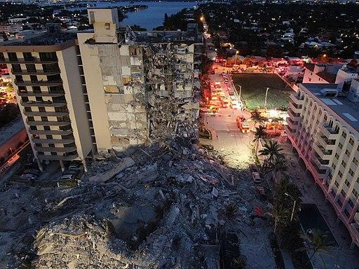 Surfside condominium collapse photo from Miami-Dade Fire Rescue 1