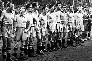 Football at the 1948 Summer Olympics - The Sweden team that won the Gold Medal.