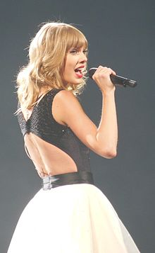 Swift performing Treacherous during the Red Tour.jpg