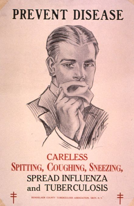 Public health campaigns in the 1920s tried to halt the spread of TB. TB poster.jpg