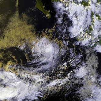 1988 Pacific hurricane season - Image: TD 4E 01 july 1988 2259Z