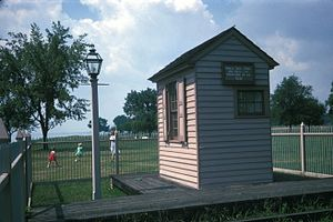 New Castle and Frenchtown Turnpike and Railroad Company - Image: TICKET OFFICE, NEW CASTLE FRENCHTOWN RAILROAD, DELAWARE