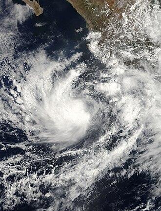 2010 Pacific hurricane season - Image: TS Blas 06 17 1740UTC