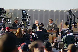 2008 Texas vs. Texas Tech football game - College GameDay broadcasting prior to the game