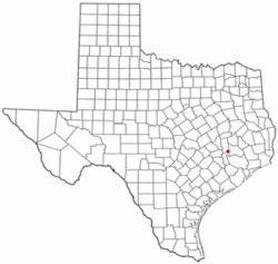 Location of Todd Mission, Texas