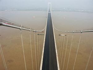 Taizhou Yangtze River Bridge - Image: Taizhou Bridge View