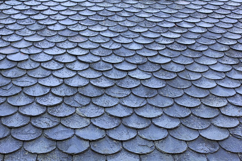 A slate roof covering for Slate roof covering