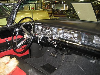 Unsafe at Any Speed - Brilliant chrome-finishing at the dashboard and A pillar of a 1957 Buick Roadmaster