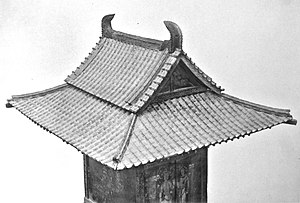Tamamushi Shrine - Detail of roof