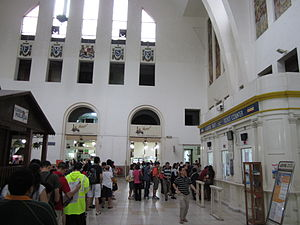 Tanjong Pagar railway station - The interior hall of Tanjong Pagar station