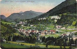 Tarvisio - View of Tarvisio in 1915