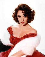 Photo of Elizabeth Taylor circa 1955.