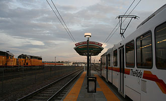 10th & Osage station - The 10th and Osage Light Rail stop in Denver, Colorado.