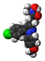 Space-filling model of the tepoxalin molecule