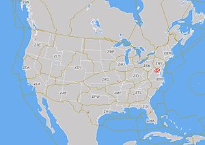 Area Control Center - This temporary flight restriction map from the Federal Aviation Administration shows the boundaries of the regions controlled by the Area Control Centers within and adjoining the contiguous United States, as well as the FAA location identifier of each such Center operated by the United States.