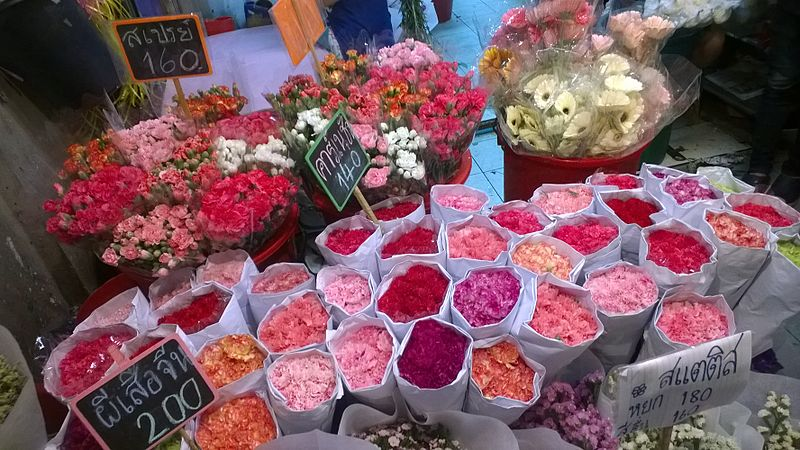 File:Thailand Bangkok Pak Khlong Talat - flower market ovedc 14.jpg