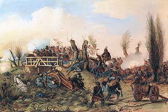 Battle of Tápióbicske - Image: Than tapiobicskei utközet 1 1849 aprilis 4