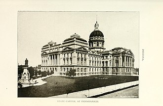 Indiana Statehouse - The Statehouse as it appeared in 1908.