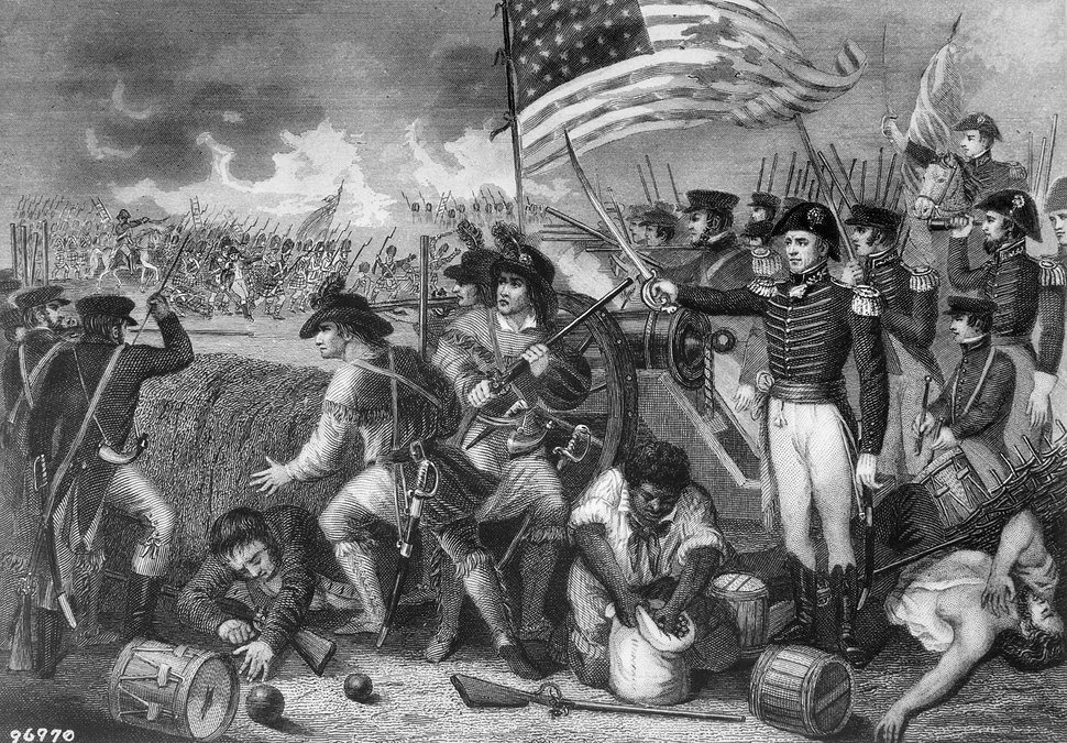 The Battle of New Orleans. January 1815. Copy of engraving by H. B. Hall after W. Momberger., ca. 1900 - 1982 - NARA - 531091
