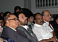 The Chief Guest and renowned film actor Shri Mamooty, the Minister of State for Information and Broadcasting, Dr. S. Jagathrakshakan, the Chief Minister of Goa, Shri Digambar Kamat and the Director.jpg