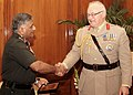 The Chief of Gen. Staff, UK, Gen. Sir Peter Wall meeting the Chief of Army Staff, Gen. V.K. Singh, in New Delhi on May 18, 2011.jpg