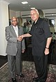 The Deputy Prime Minister, Minister of Energy and Public Utilities, Mauritius, Dr. R. Beebeejaun calls on the Union Minister for New and Renewable Energy, Dr. Farooq Abdullah, in New Delhi on October 25, 2010.jpg