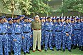 The Director General, Central Reserve Police Force (CRPF), Shri J.K. Sinha with the Rapid Action Force (RAF) contingent of CRPF which is to leave for UN Peace Keeping Mission to Pristina (Kosovo), in New Delhi on March 11, 2005.jpg