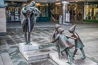 Stillorgan - The Fiddler of Dooney sculture by Imogen Stuart in Stillorgan Shopping Centre