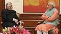 The Governor of Kerala, Shri P. Sathasivam calling on the Prime Minister, Shri Narendra Modi, in New Delhi on October 03, 2014.jpg