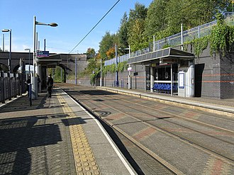 The Hawthorns station - Midland Metro platforms