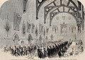 The Installation of Lord Palmerston as Lord Warden of the Cinque Ports, the Banquet in the Townhall (Maison Dieu) Dover - ILN 1861.jpg