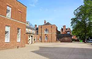 Newmarket, Suffolk - A view of the Jockey Club Rooms in Newmarket, UK