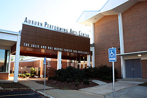 Center of excellence - The Auburn Performing Arts Center, Julie and Hal Moore Center for Excellence at the Auburn High School (Alabama) is focused on performing arts.