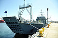 The Landing Craft Utility 2032, a Runnymede-class large landing craft assigned to the 481st Transportation Company, is seen docked in Port Hueneme, Calif., March 22, 2013 130322-A-IO170-010.jpg