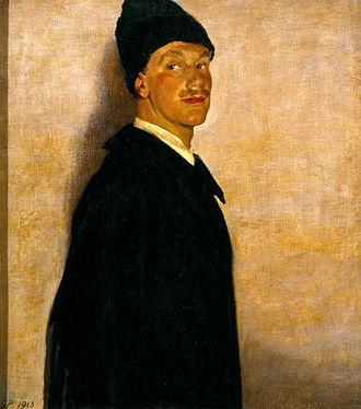 Robert Allerton - The Man in Black (Robert Allerton), 1913, by Glyn Philpot