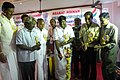 The Member of Parliament, Kanchipuram, Shri P. Viswanathan lighting the lamp to inaugurate the Bharat Nirman Public Information Campaign at Kalpakkam, in Kanchpuram District, Tamil Nadu on February 02, 2011.jpg