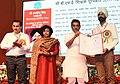 The Minister of State for Human Resource Development, Shri Upendra Kushwaha presenting the CBSE Teachers Award 2017-18, at a function, in New Delhi on September 06, 2018.JPG