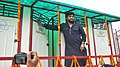 """The Minister of State for Urban Development, Housing and Urban Poverty Alleviation, Shri Babul Supriyo inaugurating the mobile toilets, as part of the """"Swachh Bharat Mission"""", in Asansol, West Bengal on August 09, 2015.jpg"""