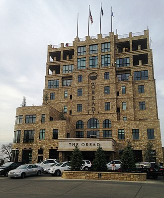 Mount Oread - The Oread, a hotel on Mount Oread, about one block south of the Old North College site.
