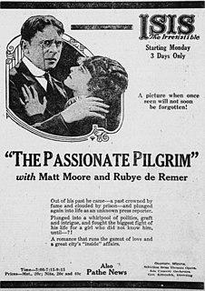 <i>The Passionate Pilgrim</i> (1921 film) 1921 film by Robert G. Vignola